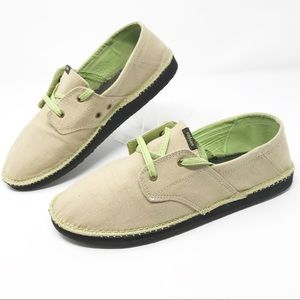 Cobain Beige Canvas Boat Skate Sneakers Shoes 8